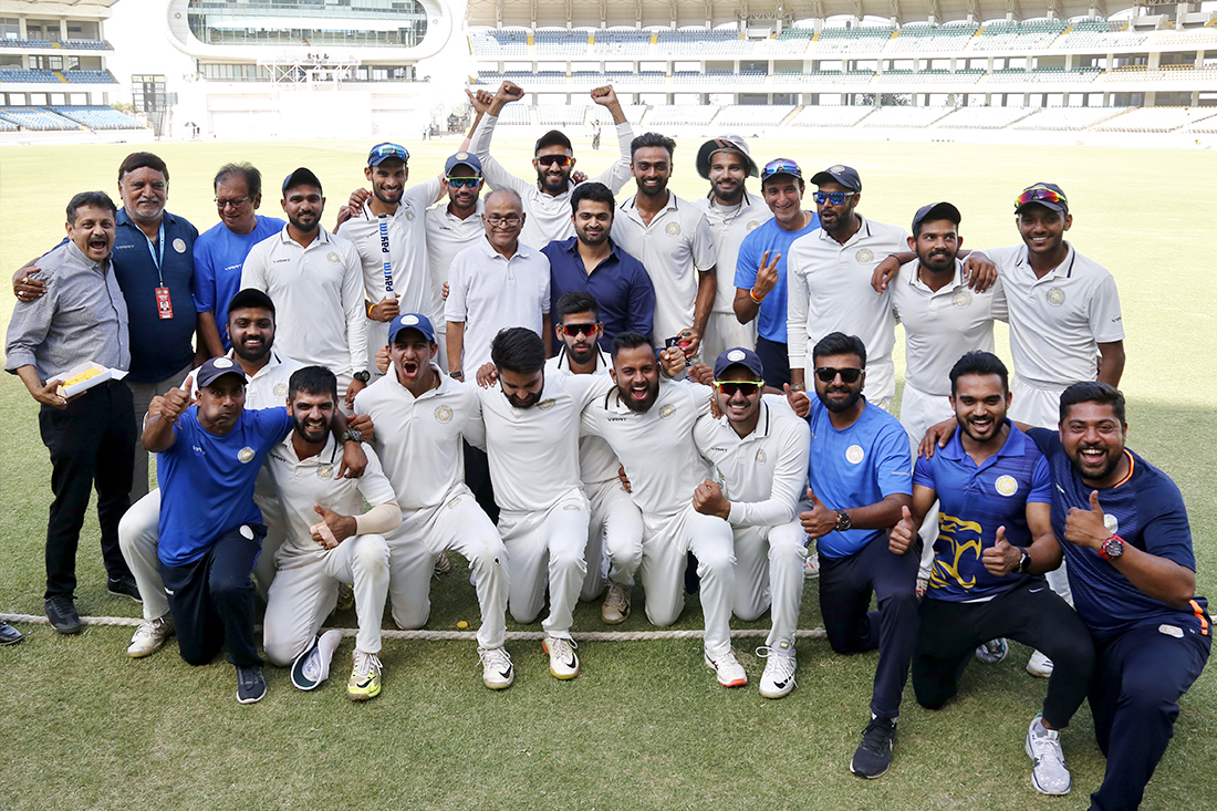 Heartiest Congratulations to Team Saurashtra for remarkable & spirited win in the Semi Final of Ranji Trophy 2019-20