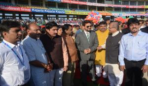 Felicitation Ceremony before start of the Test match