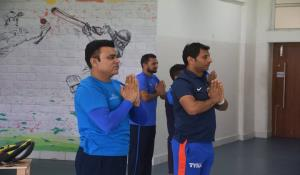 Yoga Session during Fitness & Conditioning Camp
