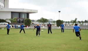 Net practice session for upcoming Ranji Trophy Season 2015-16