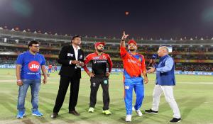 18th April Vivo IPL 2017 match Gujarat Lions vs Royal Challengers Bangalore