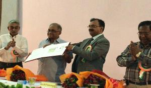 Special cover of Saurashtra Cricket Association Stadium released