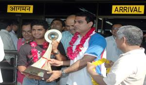 Team Saurashtra - Champions of Vijay Hazare One Day Trophy 2007-08