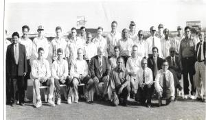 SCA officials with South Africa team during India vs South Africa ODI played in Rajkot on 29th October 1996.