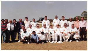 SCA officials with New Zealand Team during India vs New Zealand ODI played on 5th November 1999.