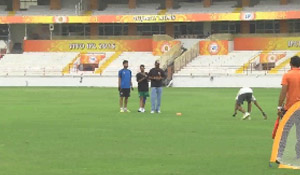 Fielding Practice during Conditioning and Fitness Camp at SCA Stadium