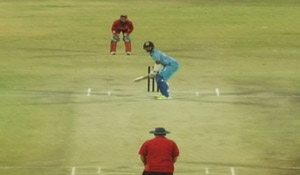 Cheteshwar Pujara's hittings in Practice Match with Oman Team