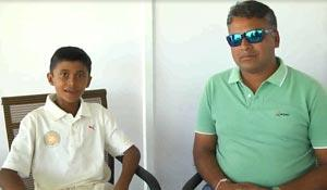 Few words of Sweet smart Rakshit who scored 156 runs in West Zone Inter Asso. U-14 tournament